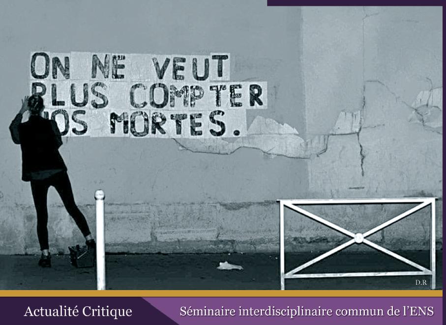 ENS - Affiche journée internationale de lutte contre les violences faites aux femmes