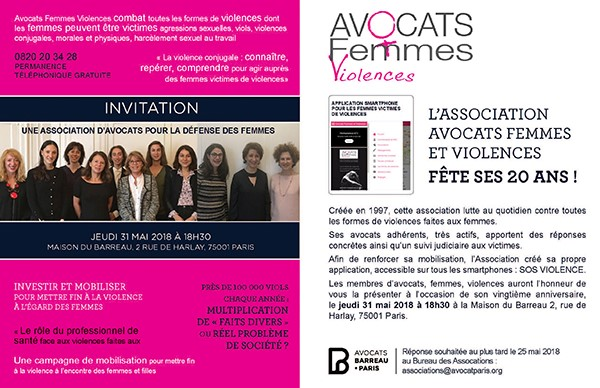 Présentation de l'application SOS Violences association avocat femmes et violences