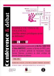 conférence femmes victimes de violence Bayonne 20112017